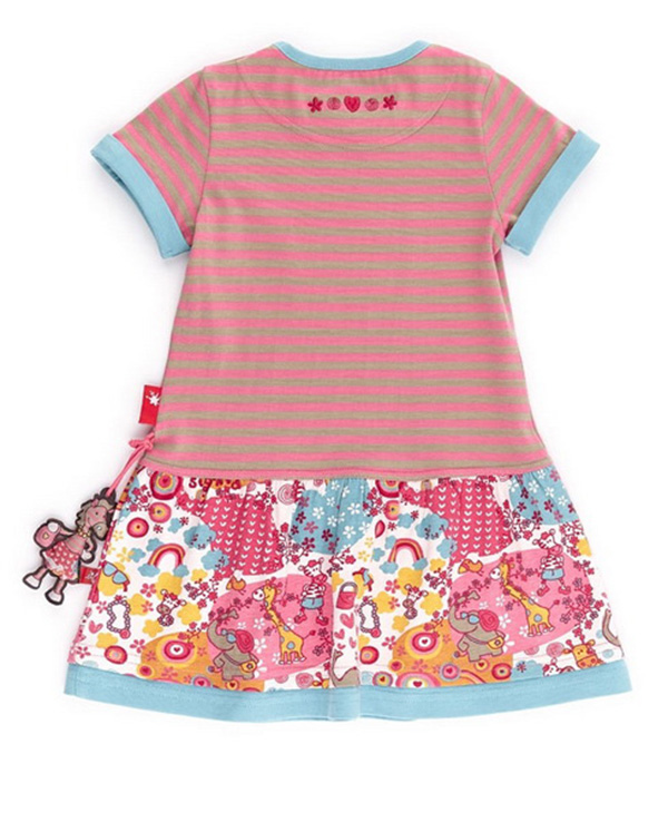 ... Dievčenské letné šaty s krátkym rukávom Safari f6a9df23567